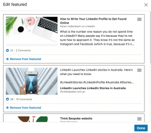 How to use the featured section on your LinkedIn profile - image linkedIn3 on https://www.deltafinancialgroup.com.au